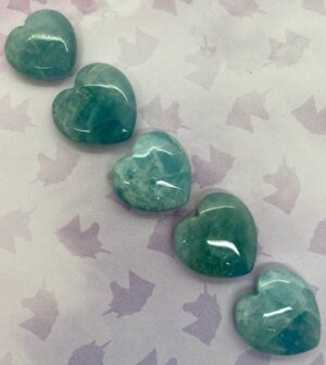 Aquamarine Quality Hearts