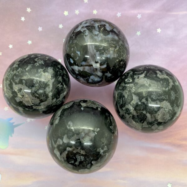 Mystic Merlinite Indigo Gabbro Spheres