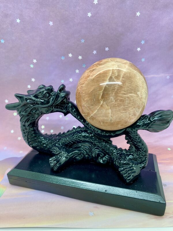 Dragon Display Crystal Sphere Holders – select to view different colours