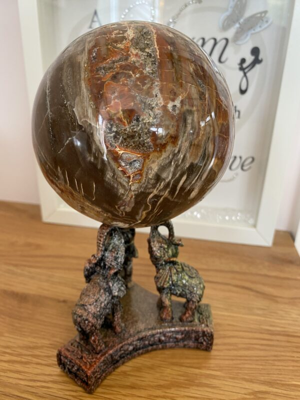 Elephant Display Crystal Sphere Holders – select to view different colours