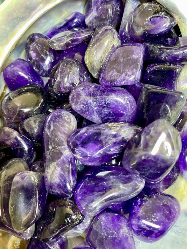 Amethyst Tumblestones (dark)