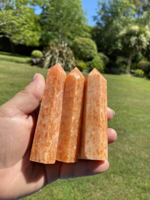 Sun Stone Crystal Points